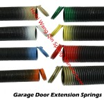 Garage Door Extension Springs in Colorful Hooks